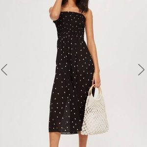Topshop Ditsy Shirred Maxi Dress